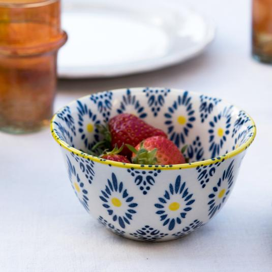 Dotcomgiftshop batik print stoneware bowl