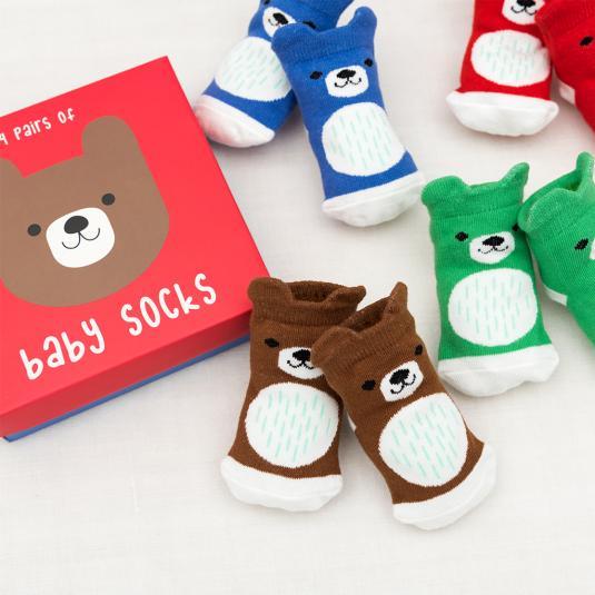 Set of baby socks - Bear design