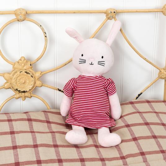 Pink rabbit cuddly toy