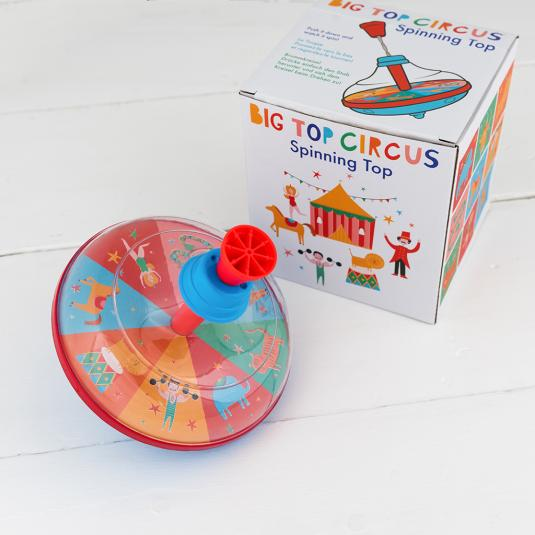 Big Top Circus retro spinning top toy