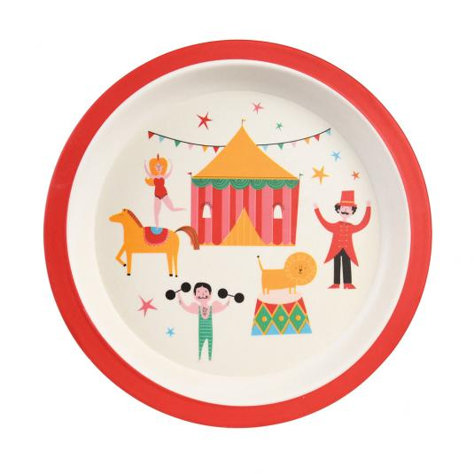 Eco-friendly bamboo children's plate