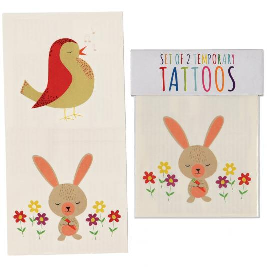 Bird And Rabbit Temporary Tattoos