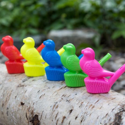 Kids plastic bird shaped whistles