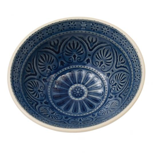 Middle eastern inspired mezze bowl blue