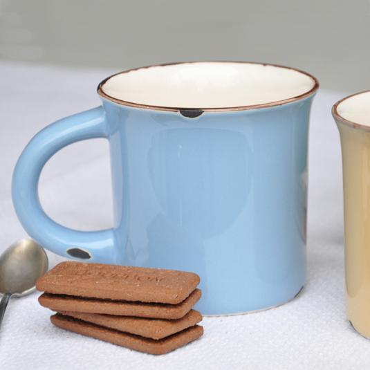 Blue Normandy Crackled Mug