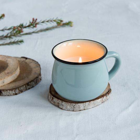 Blue Scented Candle In A Mug