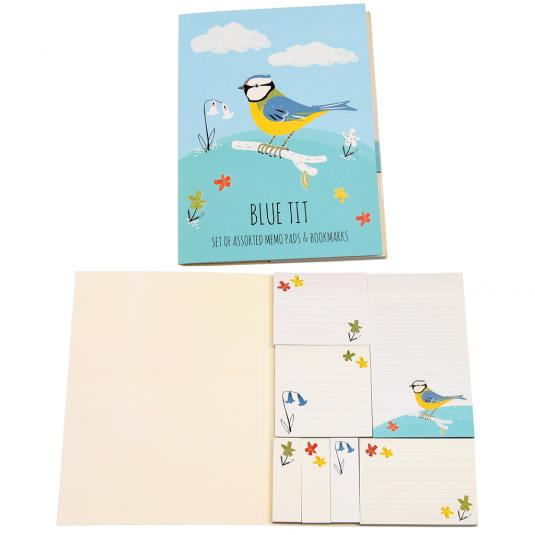 Blue Tit sticky notes and Memo Pads