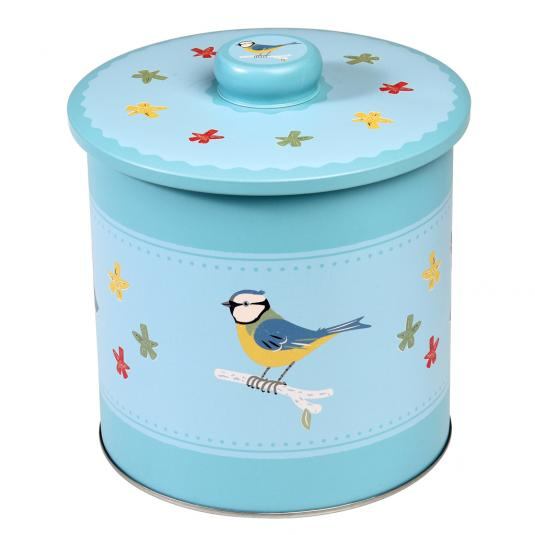 Blue Tit Design Biscuit Barrel