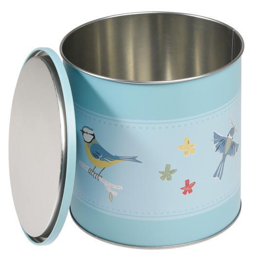 Blue Tit Bird Print Biscuit Tin