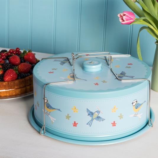 Blue Tit Design Cake Carrier