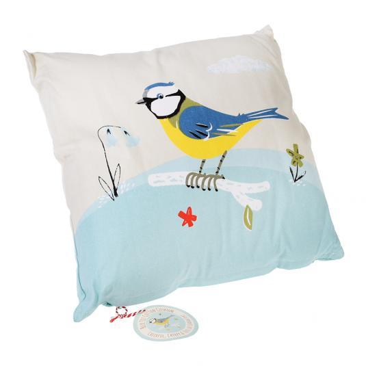 Blue Tit Design Cushion