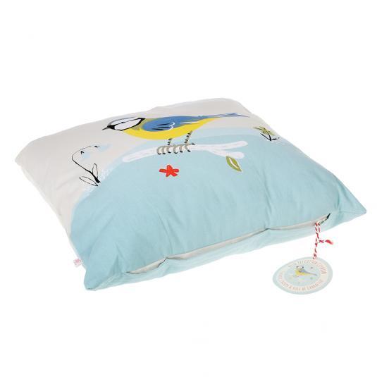 Blue Tit Bird Print Cushion