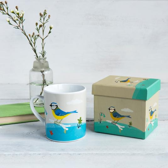 Blue Tit Bird Mug In A Gift Box