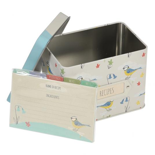 Blue Tit Recipe Tin with Dividers