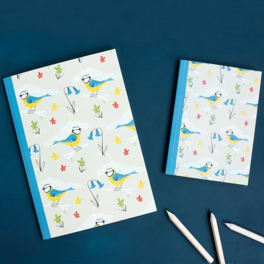 Blue Tit Design A6 Notebook