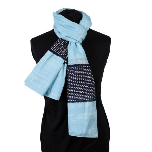laddie's blue and black cotton scarf