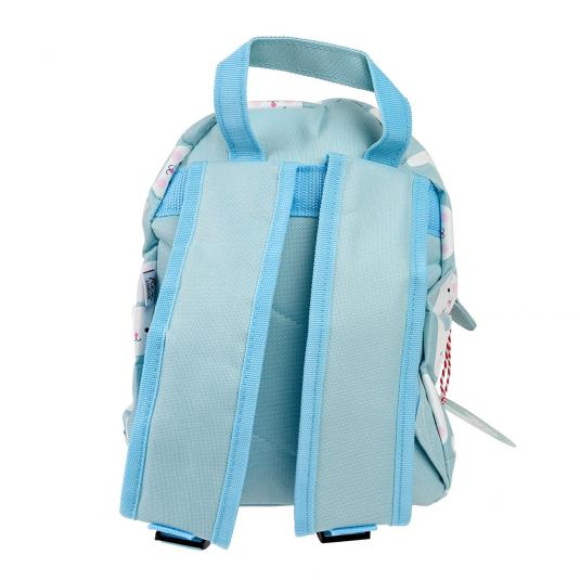 Mini backpack for children with rabbit design and front pocket