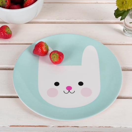 kids Bunny Melamine Plate
