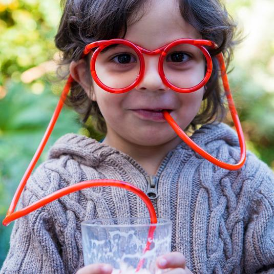 Red Silly Straw