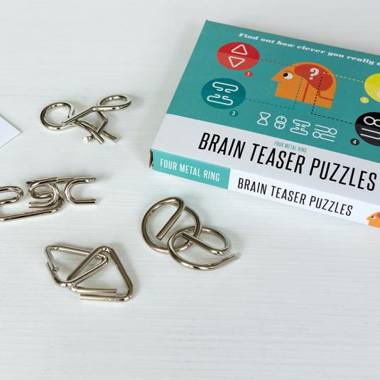 Brain Teaser Puzzles in a box