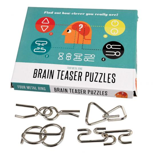 Brain Teaser Puzzles (set of 4)