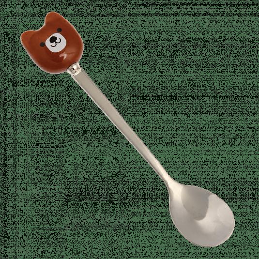 Rex London Childrens Bruno The Bear Hot Chocolate Spoon