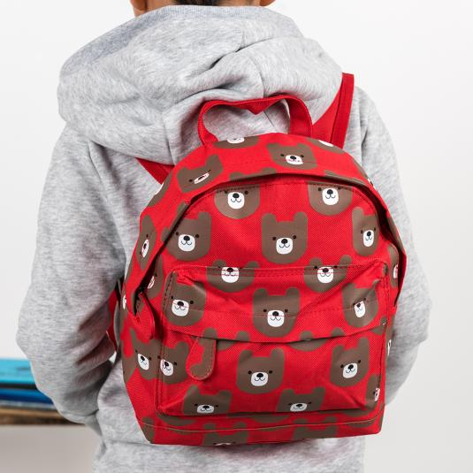 Bruno the Bear mini children's backpack with front pocket