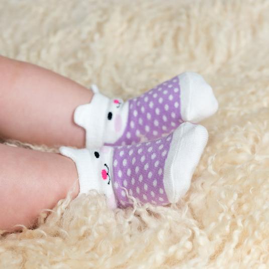 Box of 4 baby socks