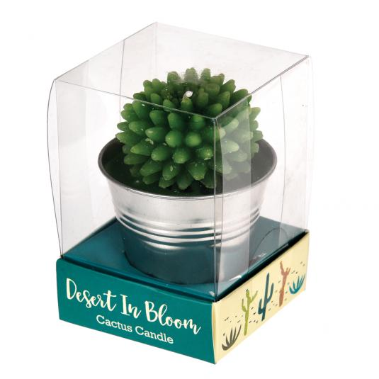 Cactus Shaped Candle in a Tin Bucket