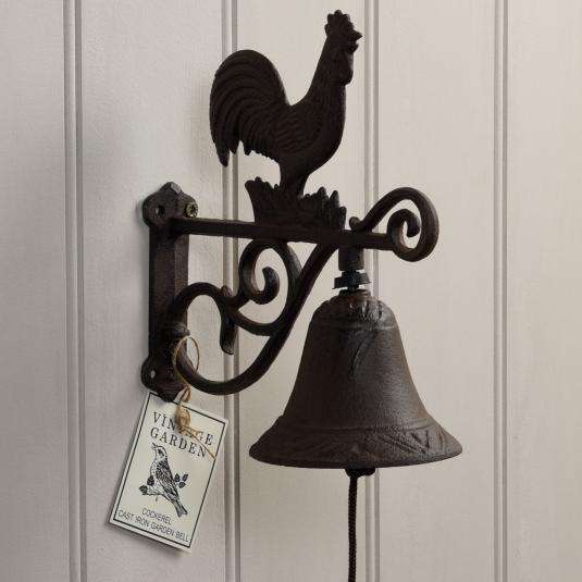 Cast Iron Cockerel Garden Bell