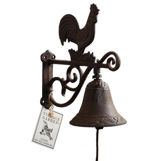 Metal Garden Door Bell with a Cockerel