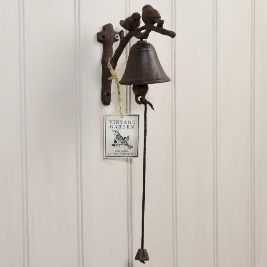 Cast Iron Songbirds Garden Bell