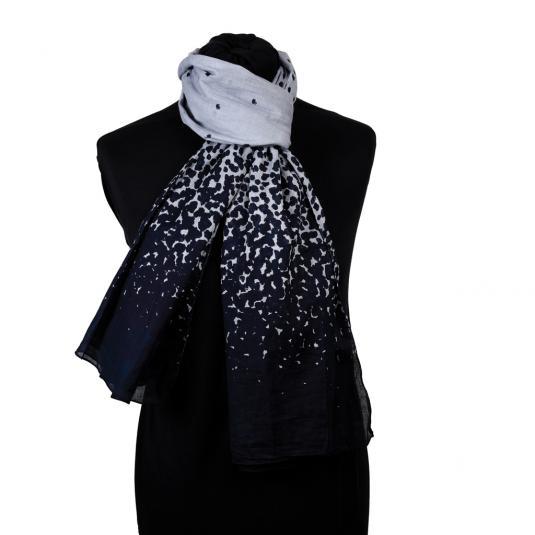 Grey and black drops ladies' cotton scarf