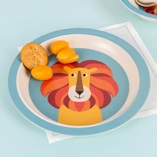Charlie the Lion bamboo plate for kids