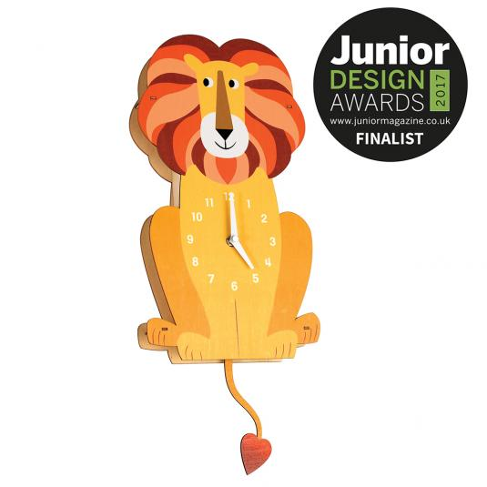 Charlie the Lion - Kids Wooden Wall Clock