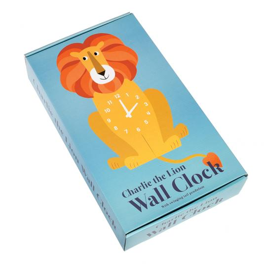 Charlie The Lion Wooden Wall Clock