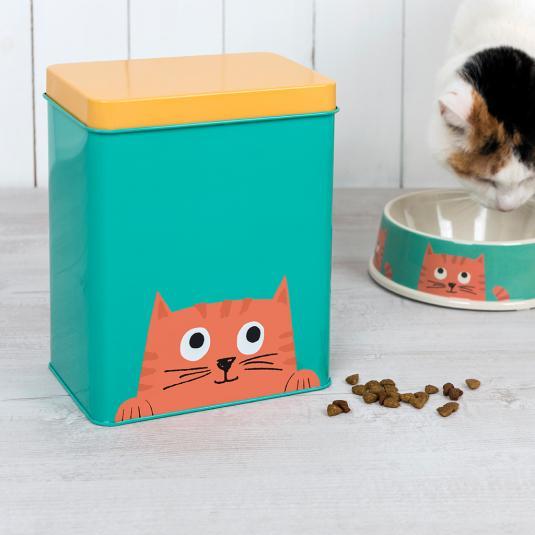 Cat treat tin