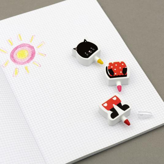Cat Crayon & Eraser