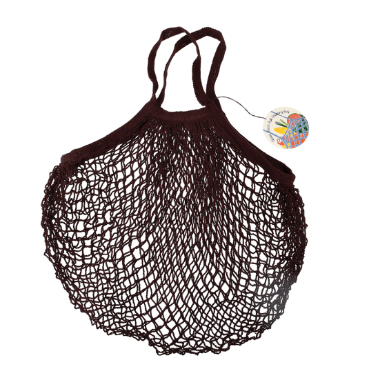 Chocolate French Style String Shopping Bag