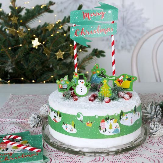 Christmas Wonderland Cake Bunting