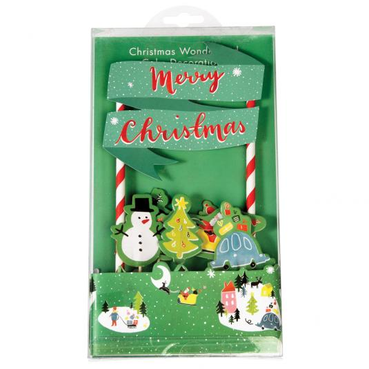 Christmas Wonderland Cake decorations - Bunting and cake toppers