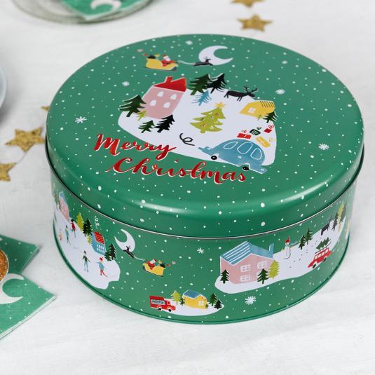 Christmas Scene Cake Tin