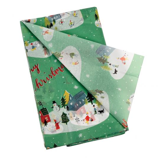 Paper Tissue Snowflake Christmas Decorations By Pearl And: Christmas Wonderland Tissue Paper (10 Sheets)