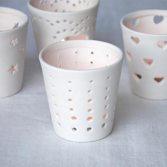 Circles Ceramic Tealight Holder