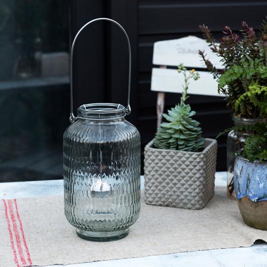 Clear Honeycomb Glass Tea Light Holder