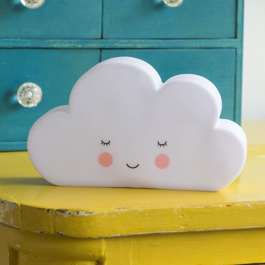 White cloud shaped kids night light