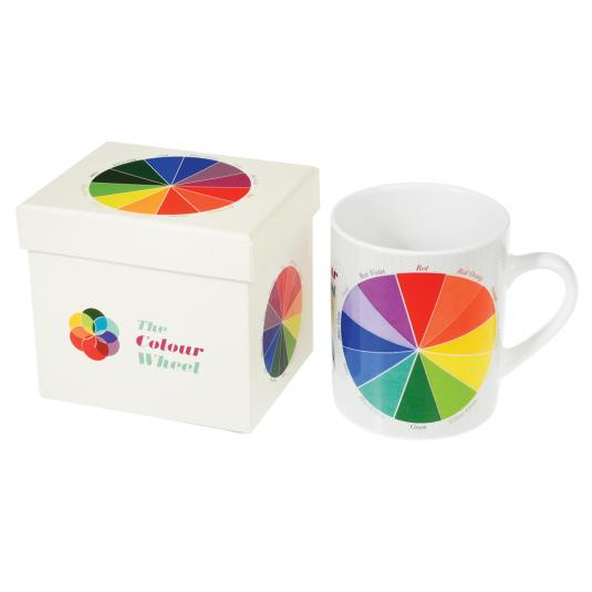 Colour Wheel Design Mug In Gift Box