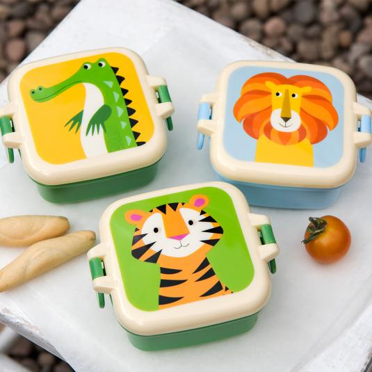 Colourful Creatures Mini Snack boxes - jungle animal print