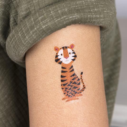 Tiger Temporary Tattoo