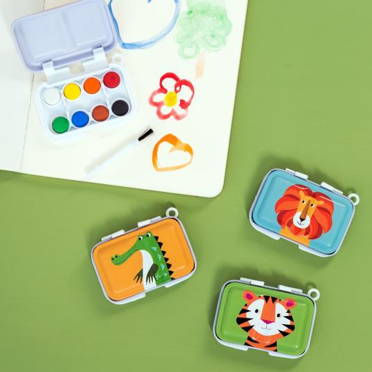 assorted jungle animals mini paint set